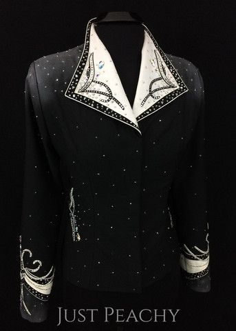 Gently used western horse show jacket by Berry Fit   Show