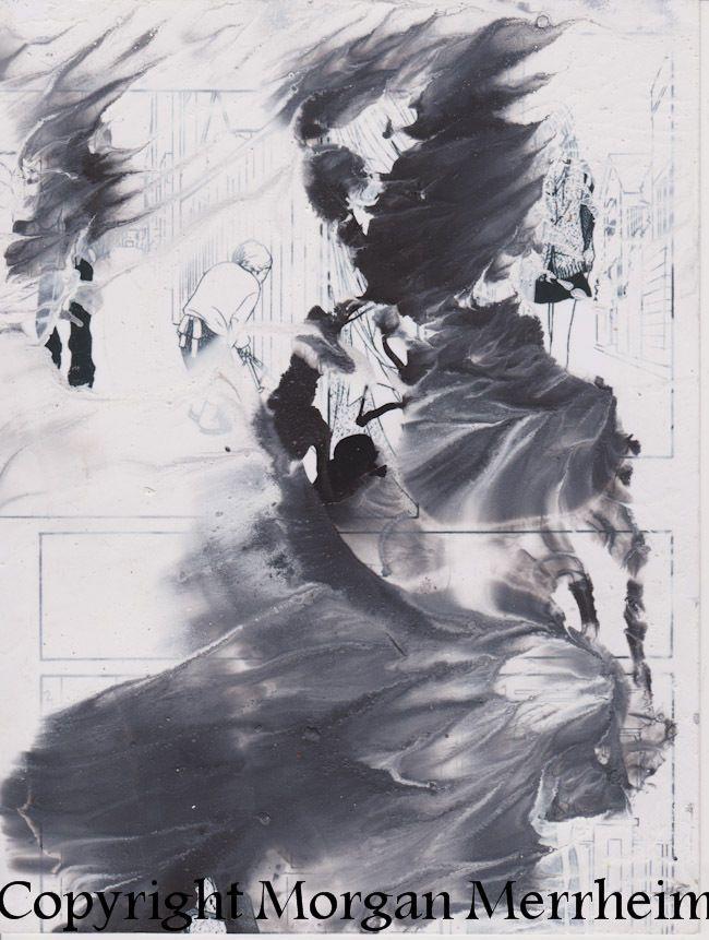 Abstrait et Figuratif Dessin Morgan Merrheim Art Brut Singulier Figure Samourai