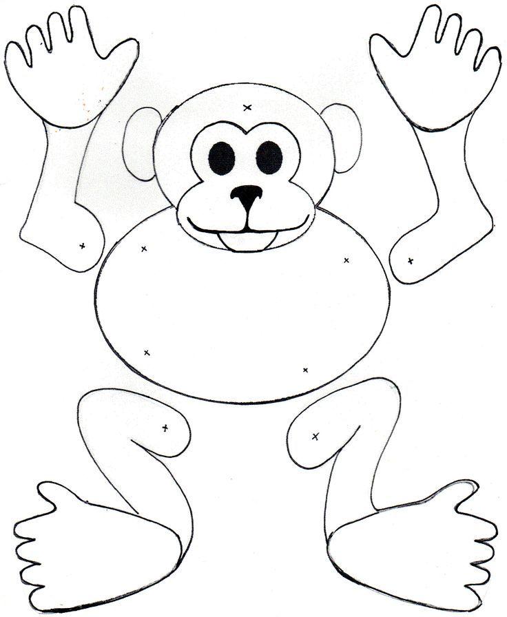 Monkey Split Pin Template - Google Search