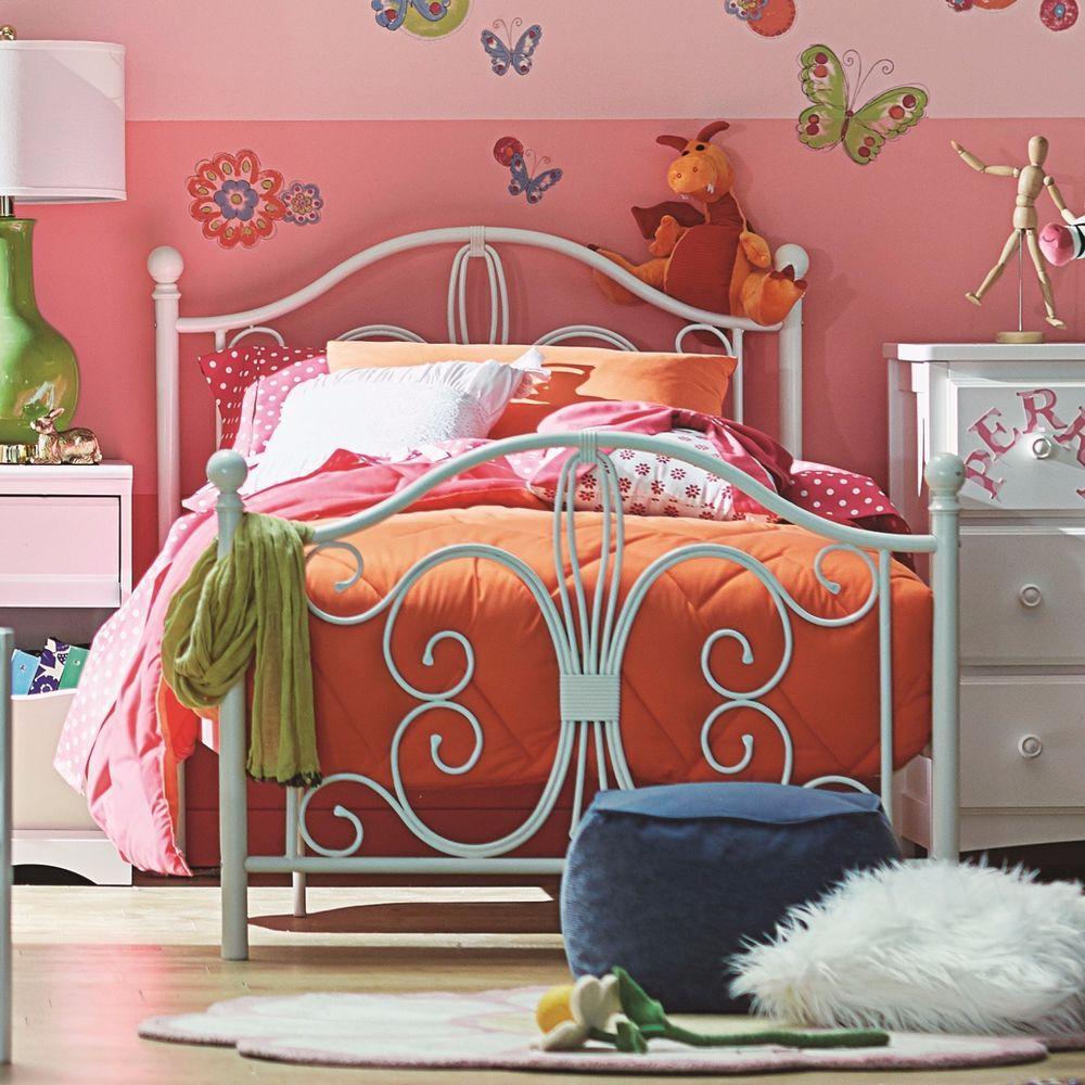 Bedroom Metal Twin Size Platform Bed Headboard Bedroom Furniture ...