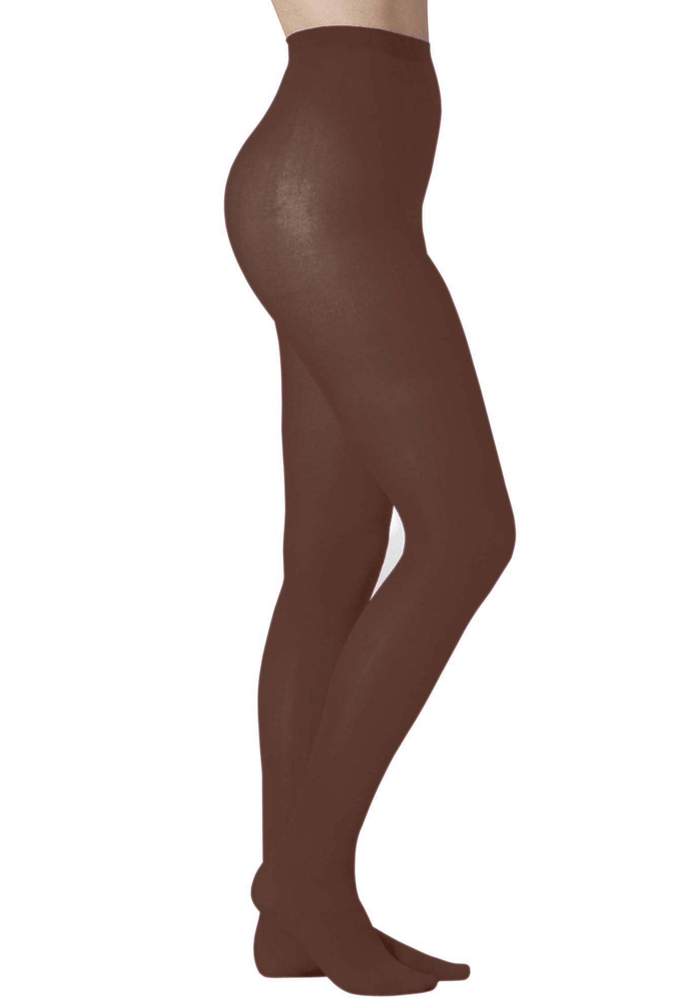 711626469f8f4 2 pack opaque footed tights by Comfort Choice - Women's Plus Size Clothing