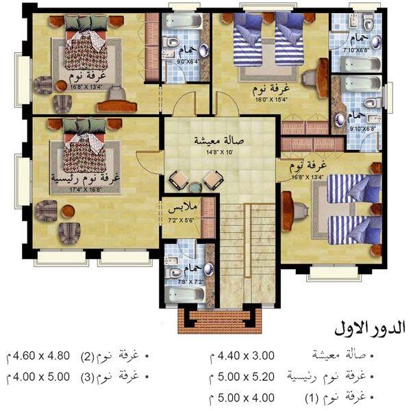 تصميم بيت الاحلام مسقط تصميم فلل فلل بطراز عربي واجهةمنازل خليجي ارقى التصاميم مميز منتدى النرجس New House Plans House Design Pictures House Plans