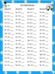 Math by the Month 1st Grade | 1re année de mathématiques ...