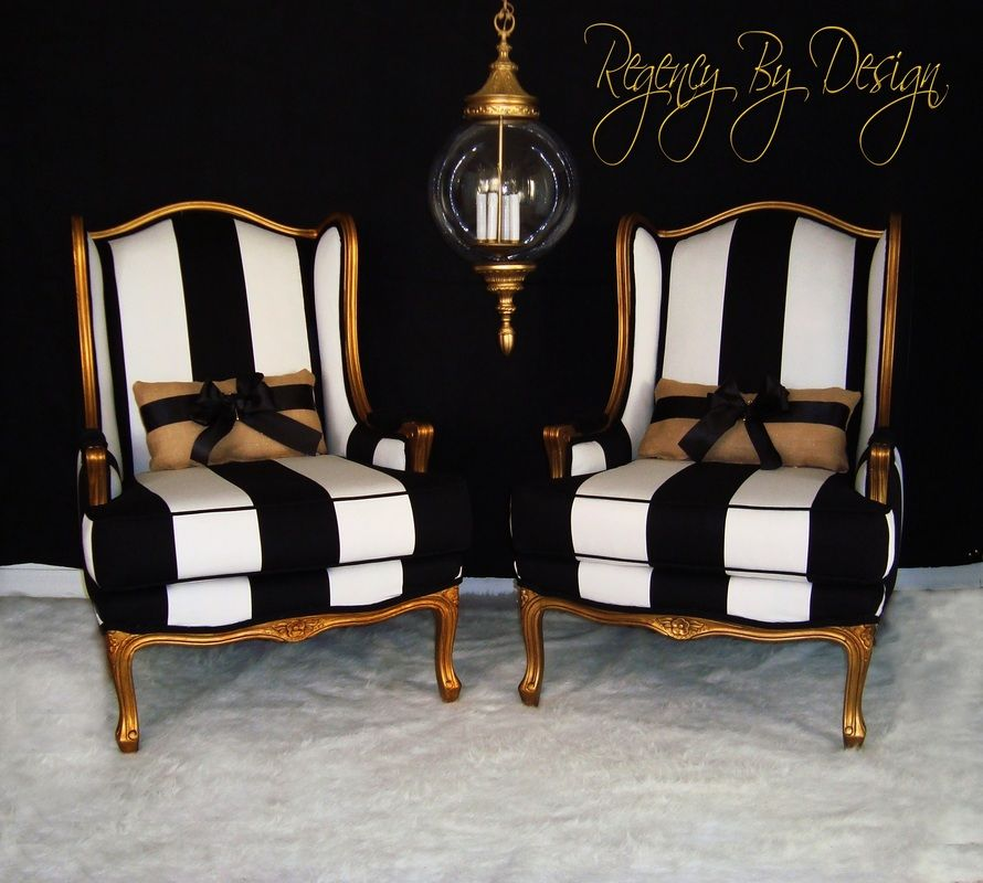 Two Hand Gilted French Berg 232 Res Chairs Done With An Aged