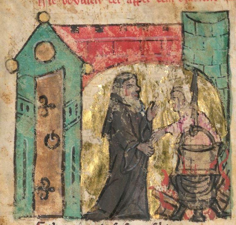 Ulrich <von Türheim>: Der starke Rennewart (Willehalm) Ende 13. Jh. Cgm 193,V Folio 14v