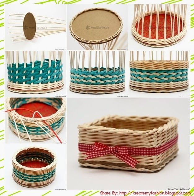 How To Make A Weave A Basket : Crafts basket weaving is not difficult to make up my own