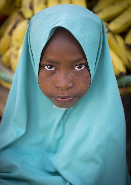 Muslim Girl With A Veil, Harar, Ethiopia