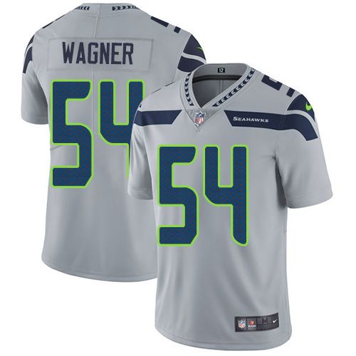 online retailer 30e72 461c7 Nike Seahawks #54 Bobby Wagner Grey Alternate Men's Stitched ...