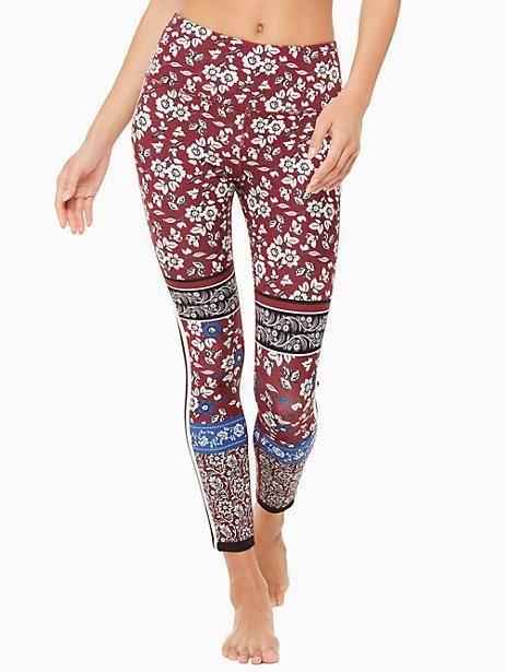 473b4a2d2151a Kate Spade Whimsy Bi-stripe Legging, Deep Garnet - Size XXS ...