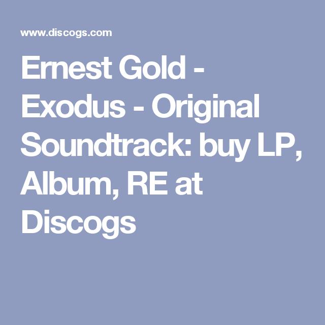Ernest Gold Exodus Original Soundtrack Buy Lp Album Re At Discogs Album The Originals Soundtrack