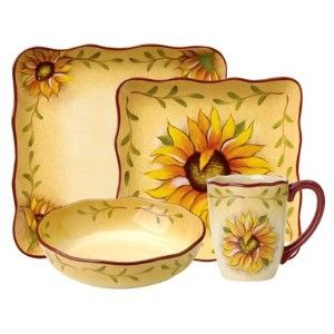 Create a cheerful table setting with this delightful Clay Art Rise \u0026 Shine dinnerware collection embellished with sunflowers and roosters.  sc 1 st  Pinterest & Rise \u0026 Shine Ceramic Dinnerware Collection review | buy shop with ...