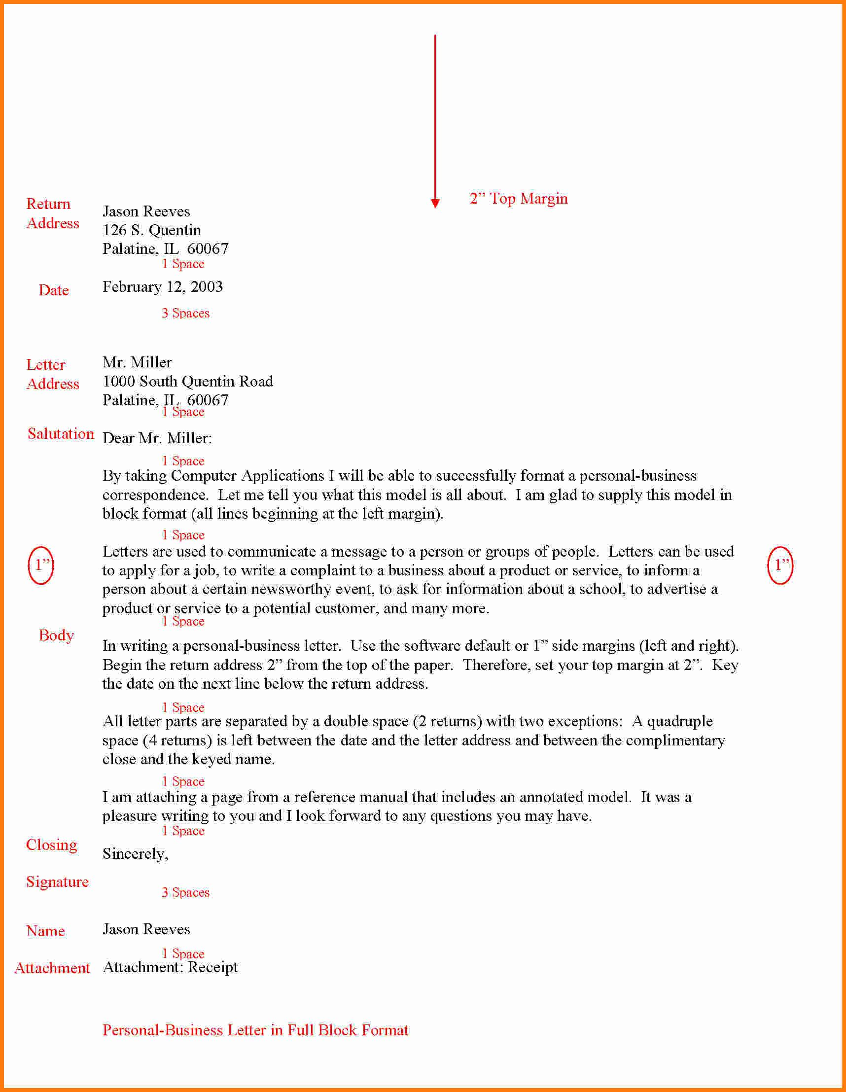 Letter Format Full Block Ledger Paper Style Sample Application Form Cover  Templates Pinterest  Personal Letter Of Reference Format