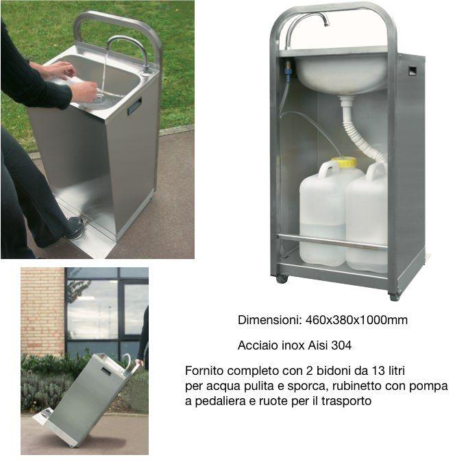 lavandino lavamani portatile autonomo con pedaliera