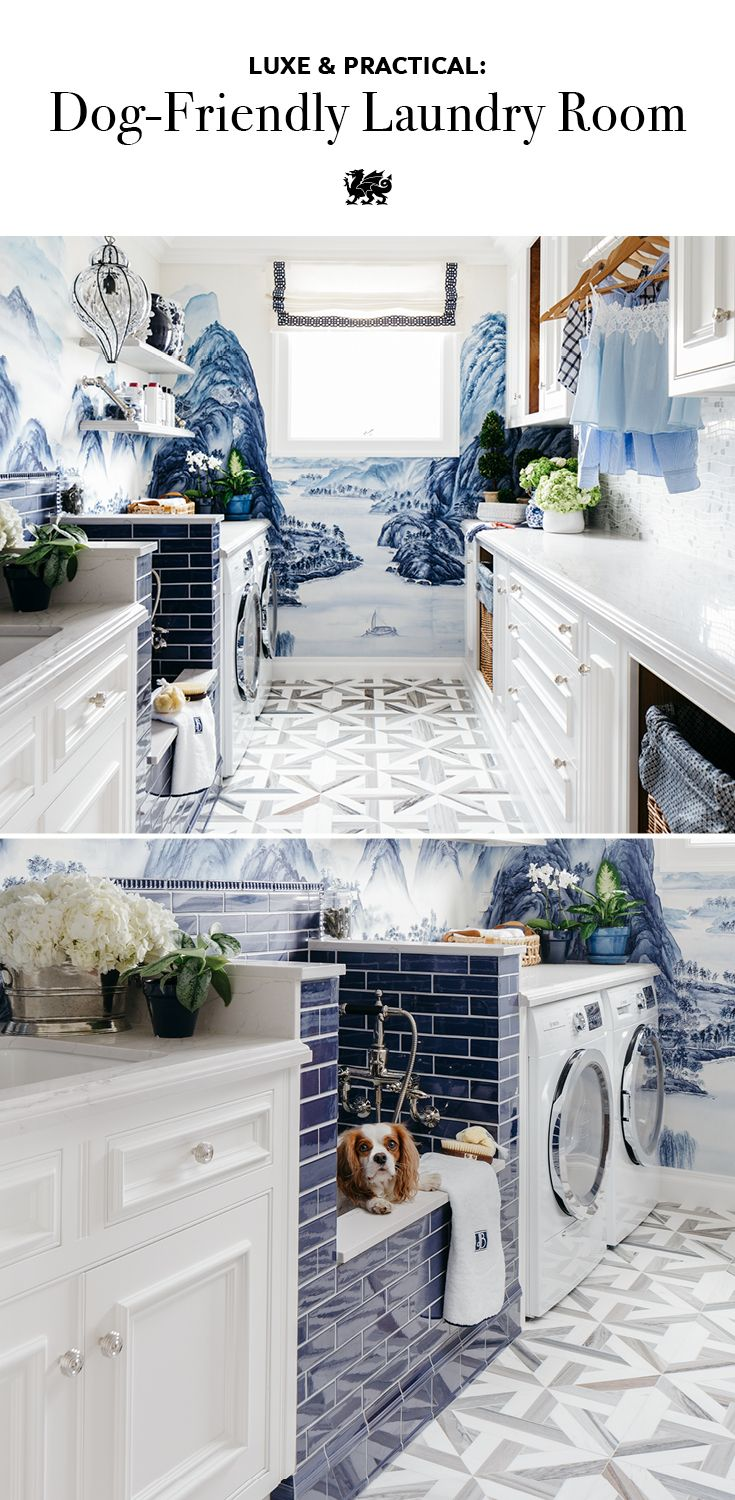cambria harvest laundry room ideas | This Laundry Room's Dog Shower Is the Pampering Your Pooch ...