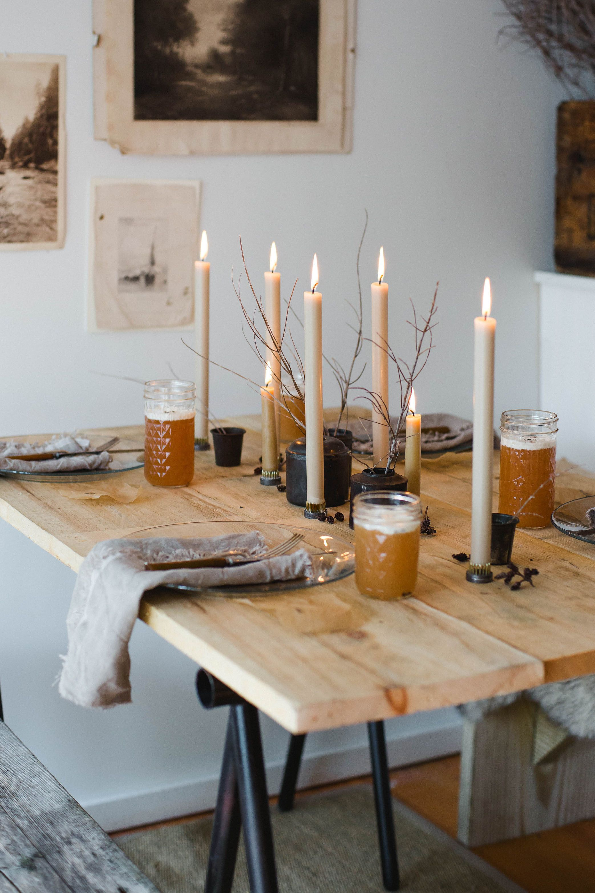Check out the Art of blog post about Danielle McGee of Good Look'n to read more about her creative process and how she used our tapers in her styling.  photography: Ester Mathieu #falldecorations #falldecor #fallinspiration #fallvibes #fallcandles #falldecor #hyggehome #hygge #hyggeliving #hyggedecor #tablescapeideas