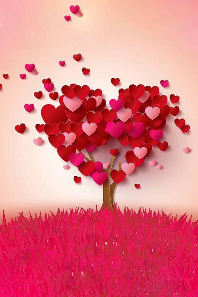 Hearts Tree Wallpaper In 2019 Heart Tree Happy Heart