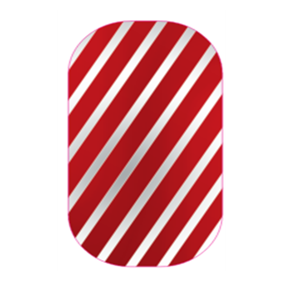 Red Silver Striped | Jamberry