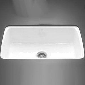 Kohler K5864 5U 0 Cape Dory White/Color Undermount   Single Bowl Kitchen