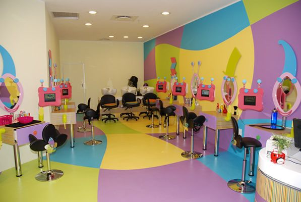 professional hair salon specially designed for kids welcome
