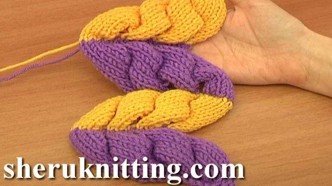 Knitting Wheat Ear Stitch Pattern Tutorial 9 Part 2 of 2