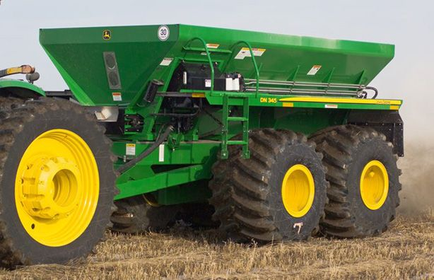 Broadcast Spreaders For Tractors : Fertilizer spreader in the field google search farm