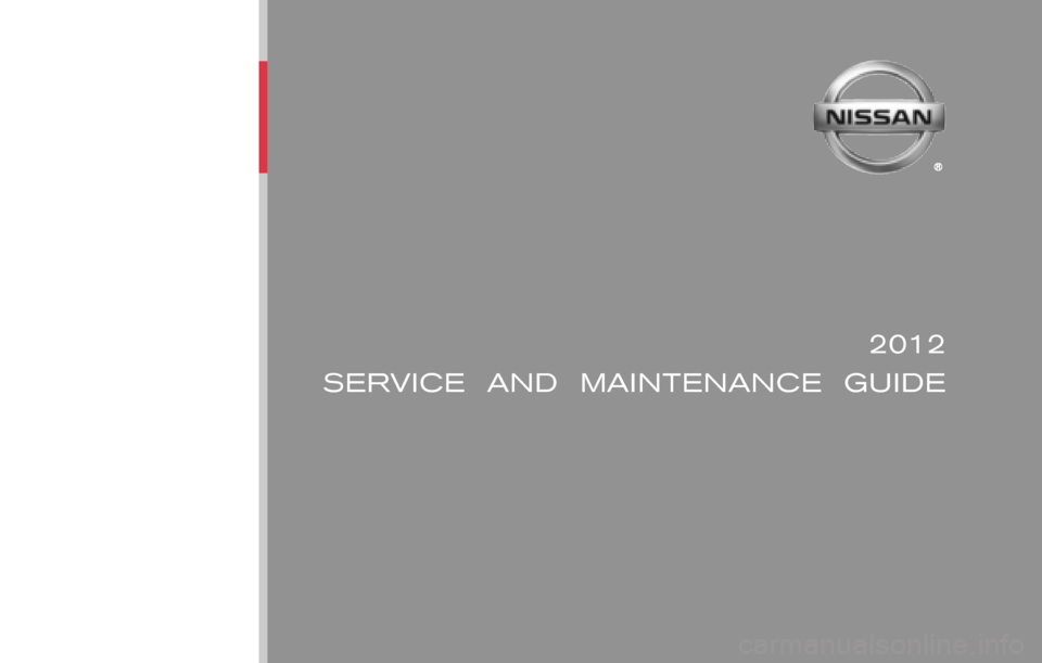 Nissan Altima Coupe 2012 D32 4 G Service And Maintenance Guide Nissan Altima Coupe Nissan Altima Altima