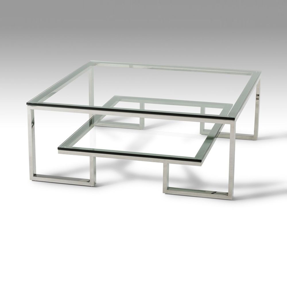 Modrest Topaz Coffee Table Clear Chrome Dcg Stores Coffee Table Stainless Steel Coffee Table Modern Centre Table Designs [ 1000 x 1000 Pixel ]