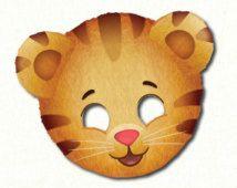 Daniel Tiger Face Mask Printable File Instant Download Kid's