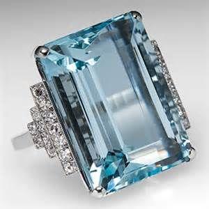 Platinum Aquamarine Ring - Bing Images