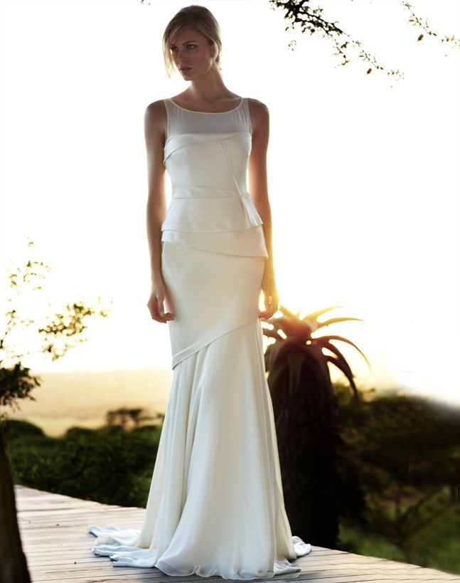 Love the illusion neckline and fluid peplums on this amazing ...