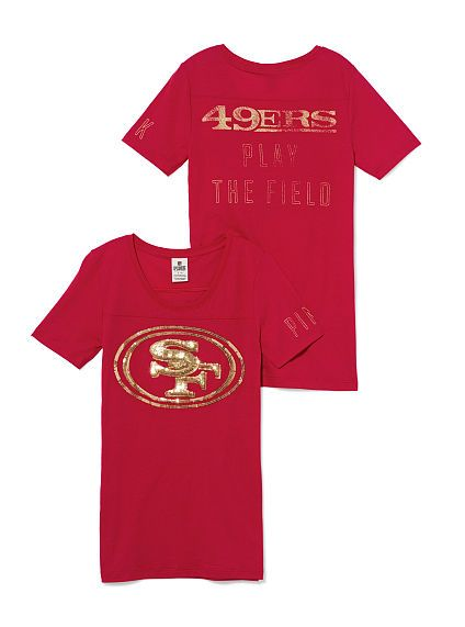 a054f022457 San Francisco 49ers Bling Tee PINK