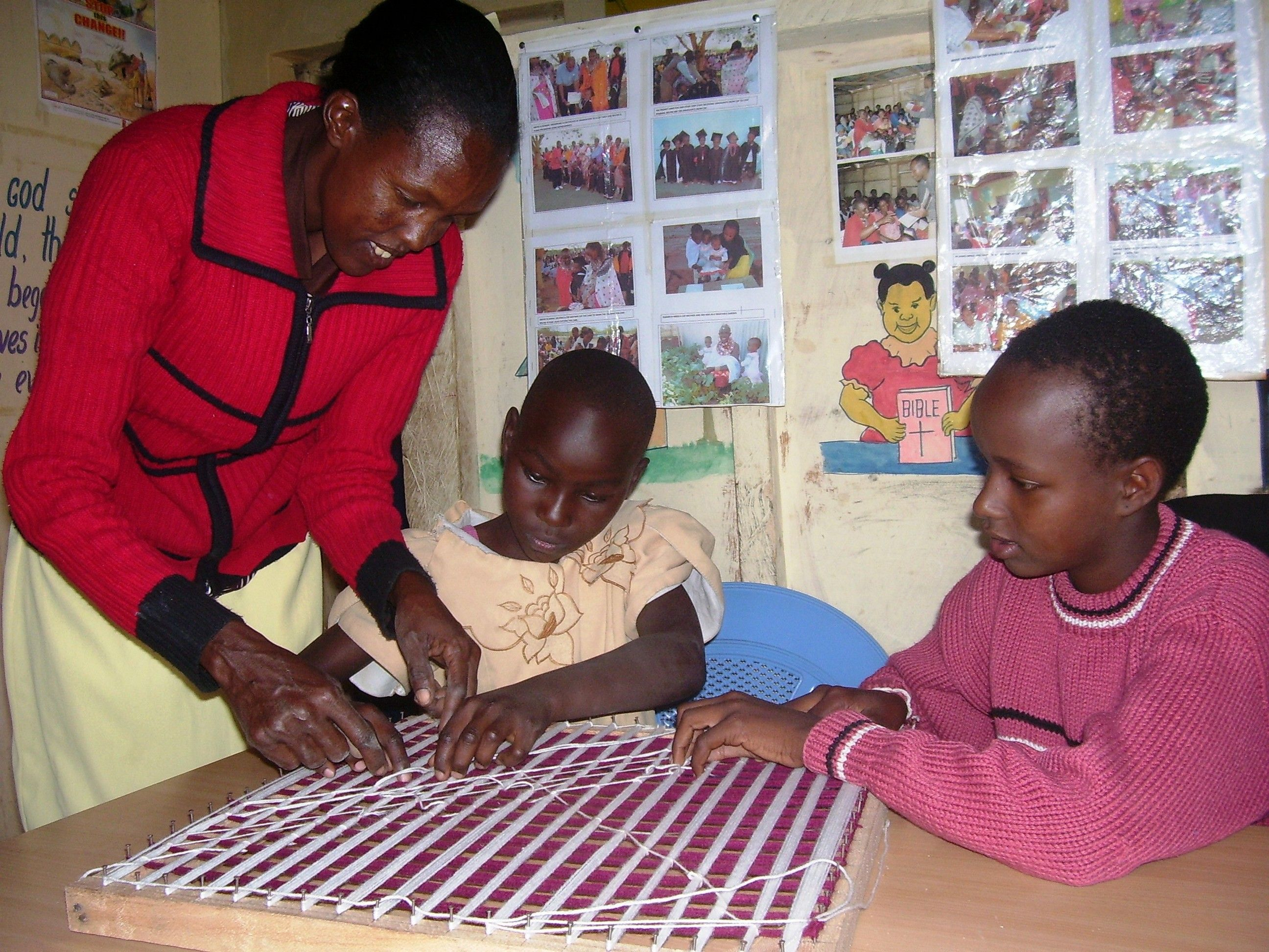 Young girls receiving vocational training at project KE905