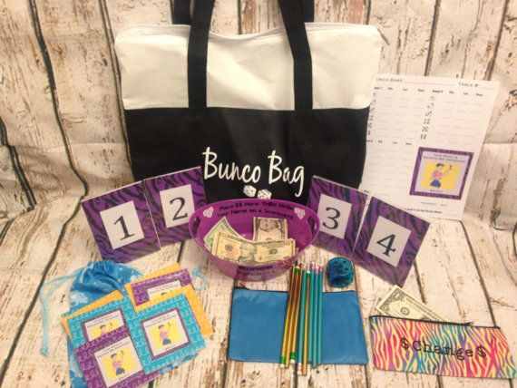 Bunco Accessory Kit and Bunco Bag To by TheBuncoEuchreQueen