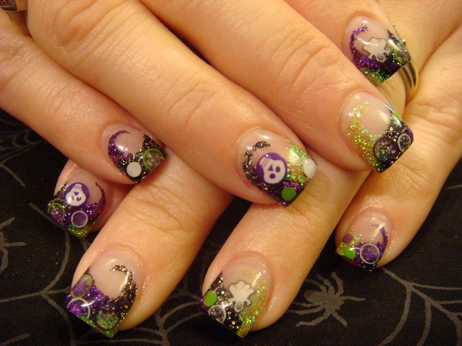halloween nails | Halloween nails acrylic | Holiday Nail Art ...