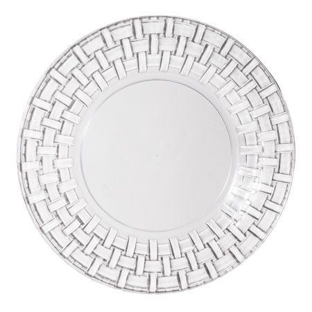 1230 10 Clear Basket Plastic Dinner Plates holidaze Pinterest