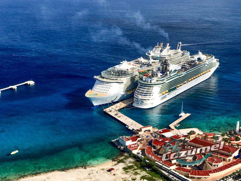 Norwegian Cruise ships at Cozumel Cruise Port
