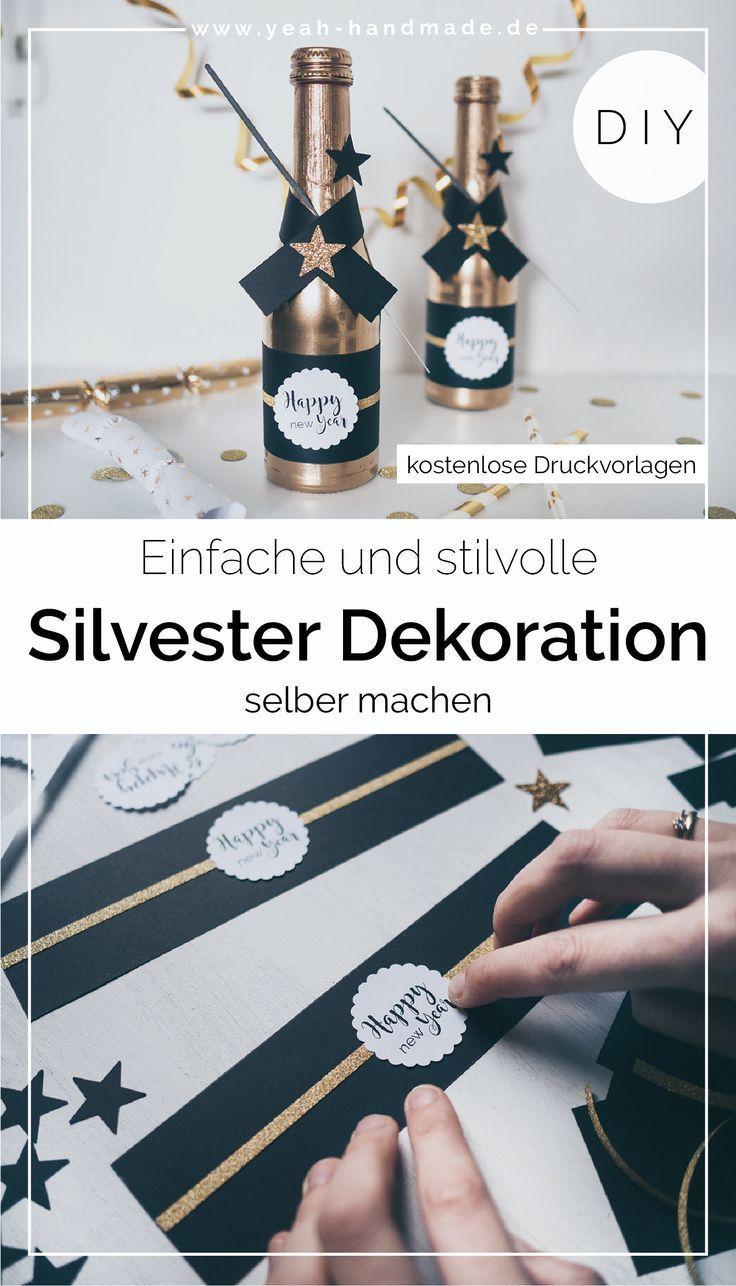 DIY Silvester Deko • Yeah Handmade