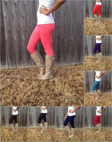Fleece Lined Leggings-(MULTIPLE COLOR CHOICES)