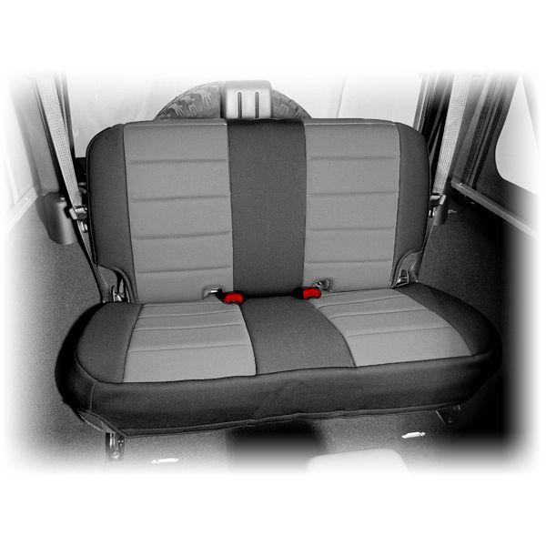 2007 2014 2 Door Jeep JK Wrangler Black Gray Neoprene Rear Seat Cover