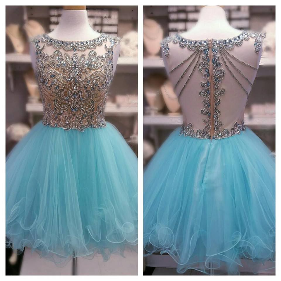 Charming Prom Dress,Sexy Prom Dress,Tulle Homecoming Dress,Blue Prom ...
