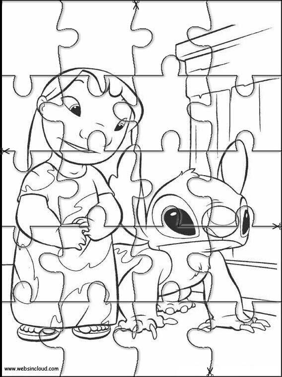 lilo und stitch 20 zu drucken puzzlespiele aktivitäten