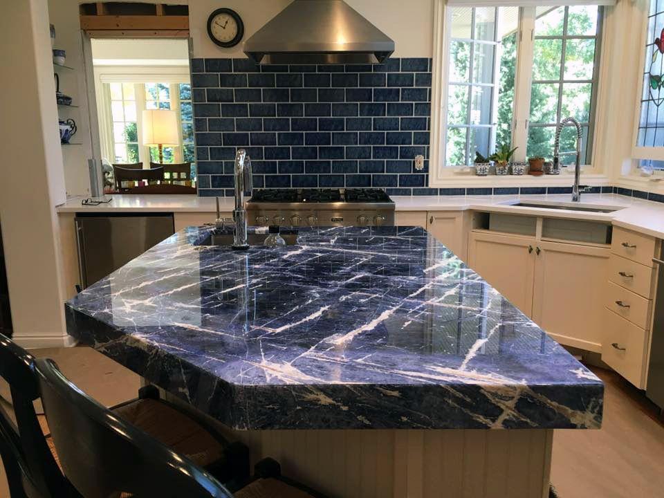 Lapis Island Kitchen Blue Subway Tile Tile Installation