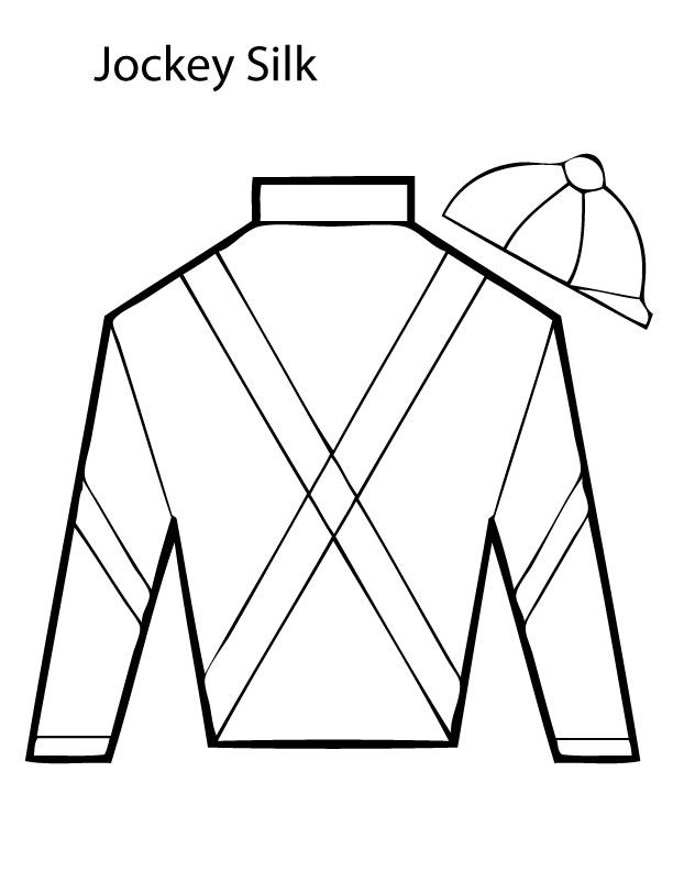 Jockey Silk Coloring Page1 Jpg 612 792 Pixels Kentucky Derby Theme Derby Party Derby