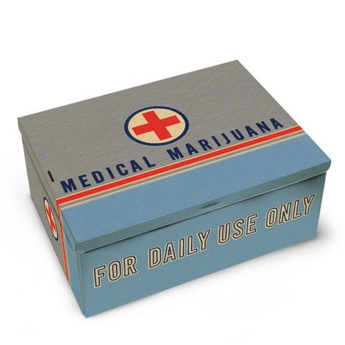 Pop Culture, Novelties, Gag Gifts - Medical Marijuana Cigar Tin Box