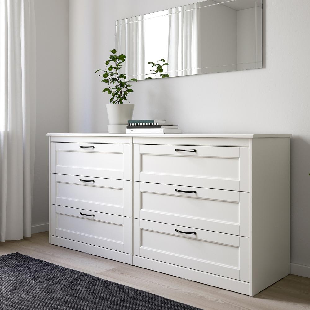 Songesand 6 Drawer Dresser White 63 3 8x31 7 8 Ikea Bedroom Furniture Dresser Ikea Bedroom Furniture Dresser Drawers [ 1000 x 1000 Pixel ]