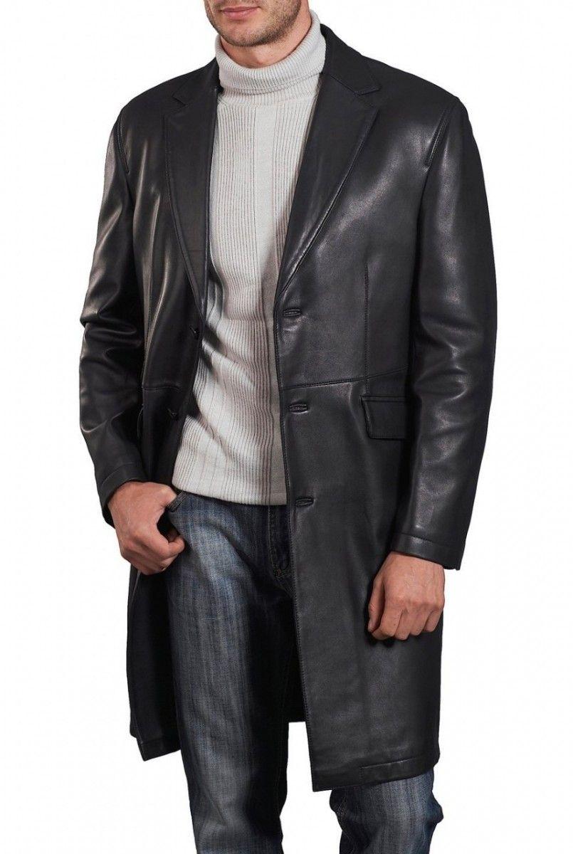 Mens Long Leather Coats - C0ZY | Leather Stuff | Pinterest | Coats