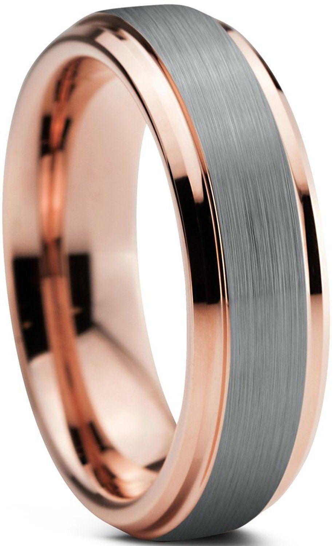 Tungsten Wedding Band Ring 6mm for Men Women Comfort Fit