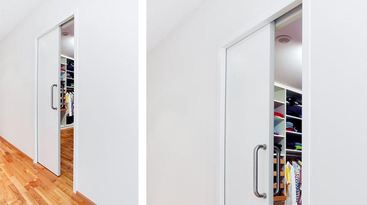 Pocket Door Track Which Is Actually Concealed Inside The Ceiling    Stunning! Www.bartelsdoors