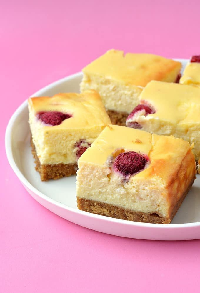 Baked White Chocolate Raspberry Cheesecake Bars made with fresh raspberries. Creamy and smooth these easy cheesecake are so easy to make  no water bath needed. Recipe from sweetestmenu.com #cheesecake #raspberries #rasp  The post White Chocolate Raspberry Cheesecake Bars appeared first on Win Dessert.  Cheesecake  Win Dessert #whitechocolateraspberrycheesecake