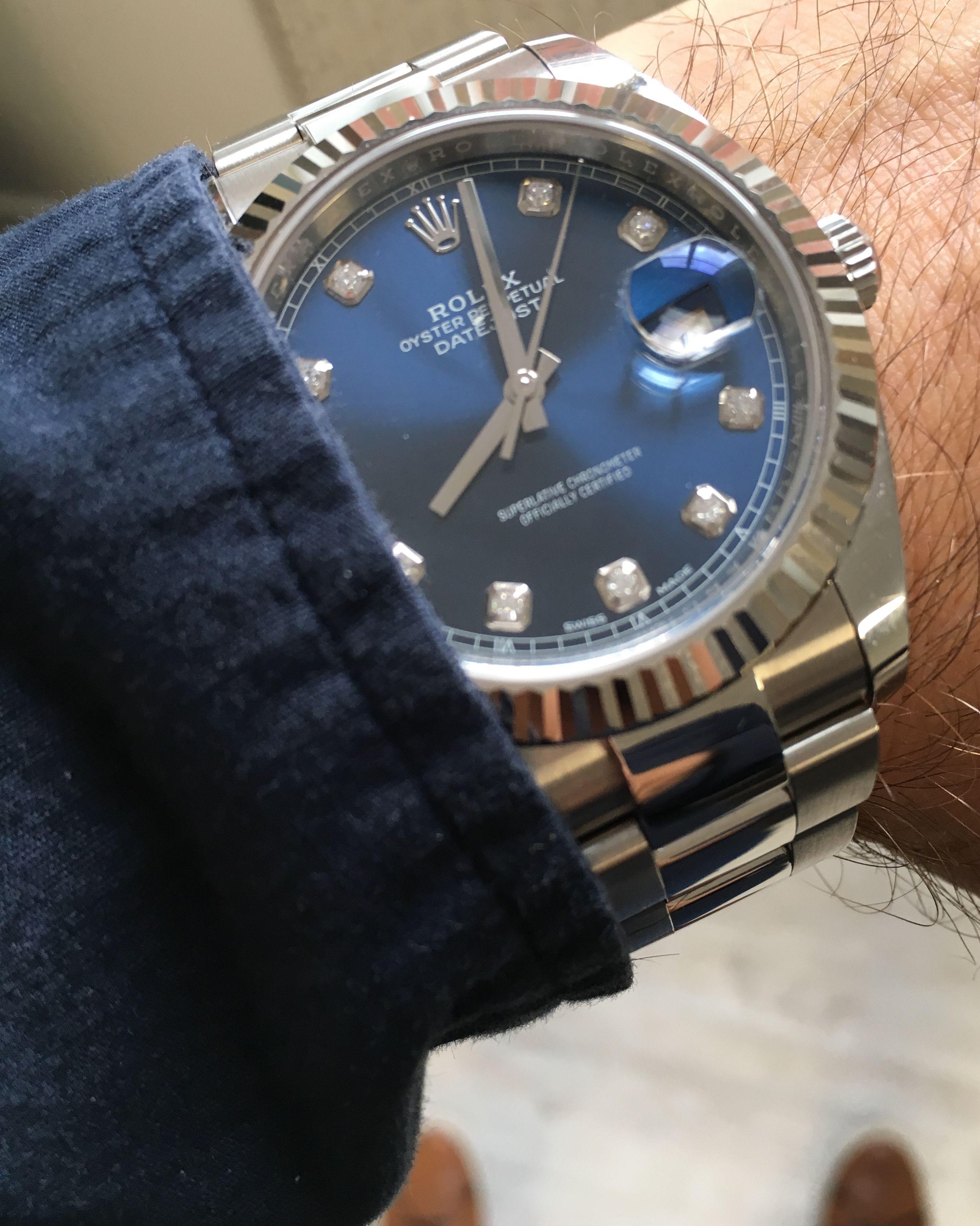 87ca41ce6d2 Rolex Datejust 41 Blue Diamond Dial 126334   Rolex   Rolex, Rolex ...